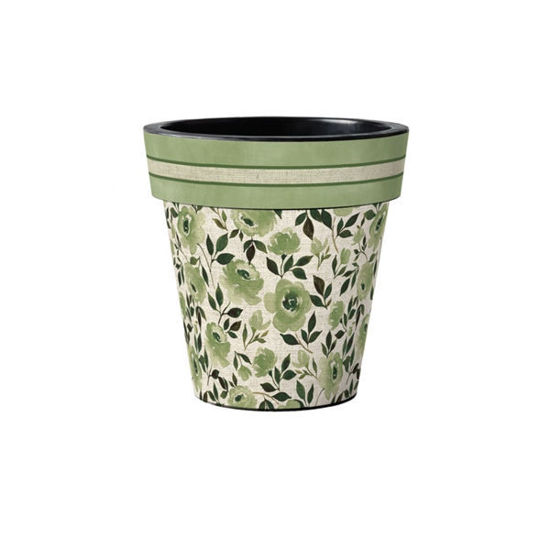 "Moonlight Rose - Green 12"" Art Planter by Studio M"