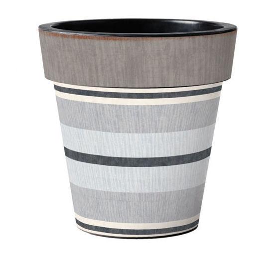 "Broad Stripes - Cape 18"" Art Planter by Studio M"