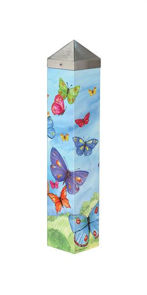 "Brilliant Butterflies  20"" Art Pole by Studio M"