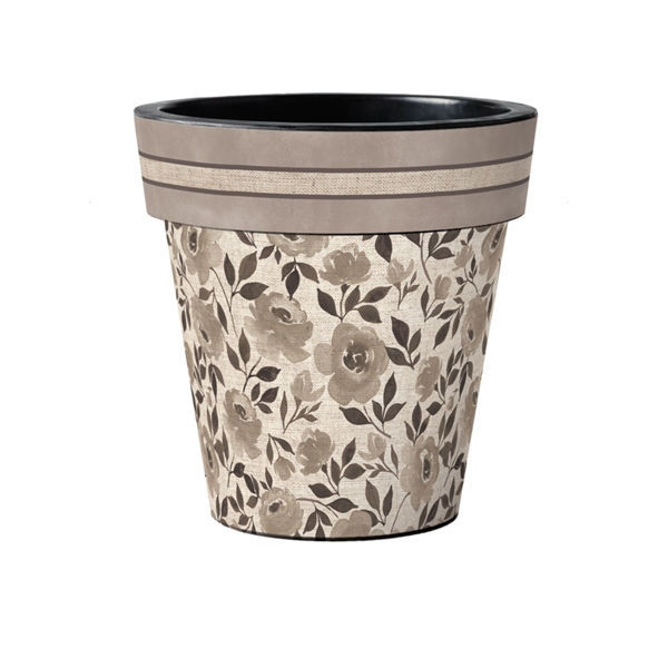 "Moonlight Rose - Taupe 15"" Art Planter by Studio M"
