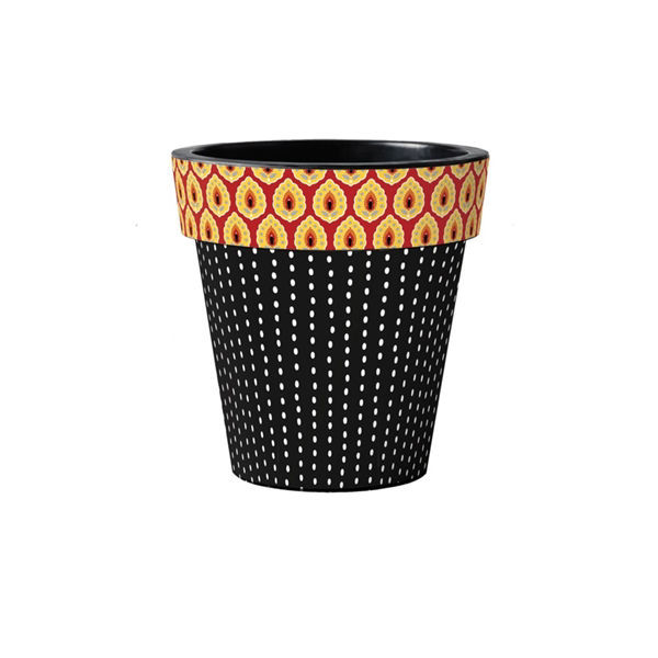 "Sunflower Checks 12"" Art Planter by Studio M"