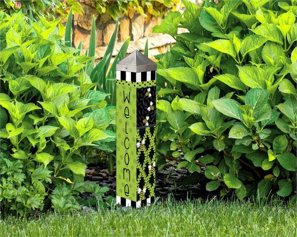 "Bee Trellis  20"" Art Pole by Studio M"