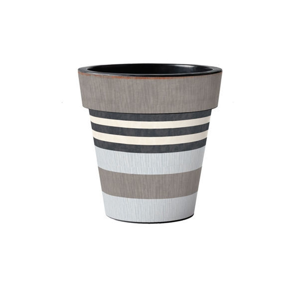 "Broad Stripes - Cape 12"" Art Planter by Studio M"