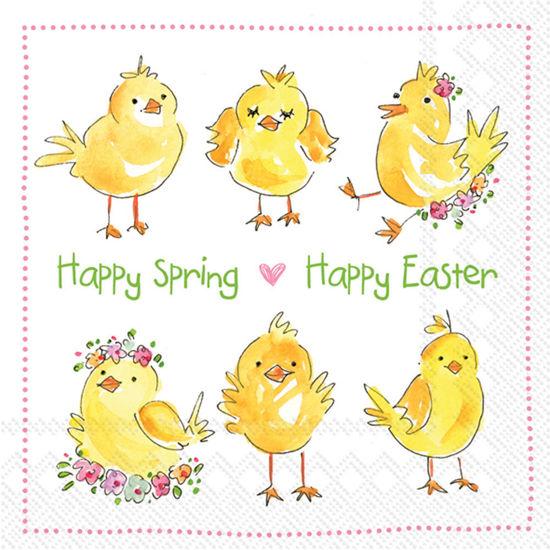 Easter Chicks Luncheon Napkin by Boston International