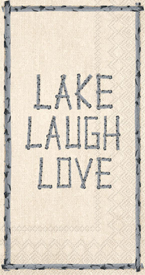 Lake Laugh Love Guest Towel by Boston International