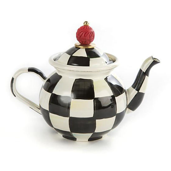 Courtly Check Enamel Tea for Me Pot by MacKenzie-Childs