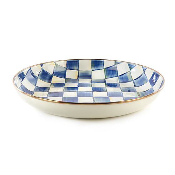 Royal Check Enamel Abundant Bowl by MacKenzie-Childs