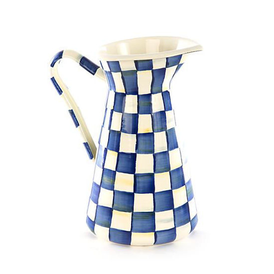 Royal Check Enamel Practical Pitcher - Large by MacKenzie-Childs