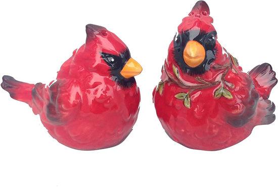 Cardinal Salt & Pepper Set by Blue Sky Clayworks
