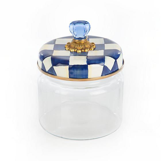 Royal Check Enamel Lid Kitchen Canister - Small by MacKenzie-Childs