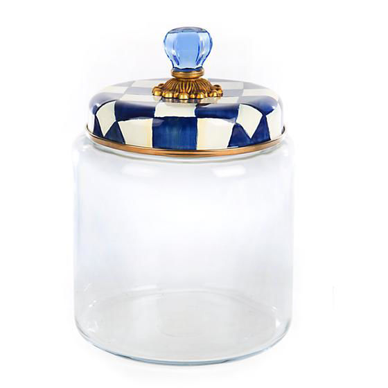Royal Check Enamel Lid Kitchen Canister - Large by MacKenzie-Childs