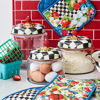 Courtly Check Enamel Lid Kitchen Canister - Large by MacKenzie-Childs