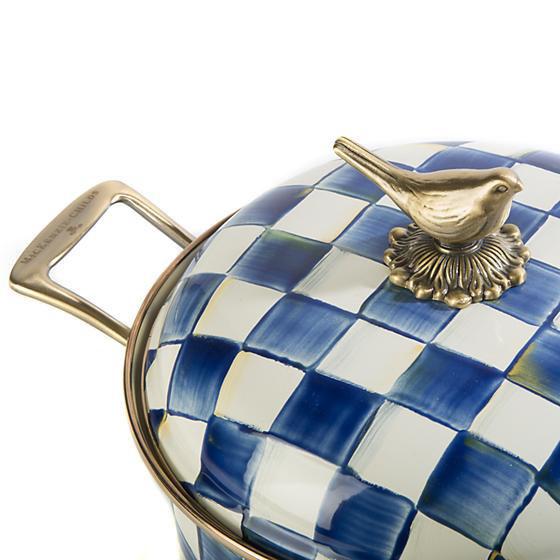 Royal Check Enamel 3 Qt. Saute Pan by MacKenzie-Childs