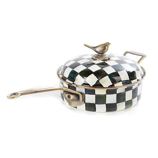 Courtly Check Enamel 3 Qt. Saute Pan by MacKenzie-Childs