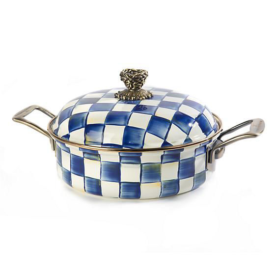 Royal Check Enamel 3 Qt. Casserole by MacKenzie-Childs