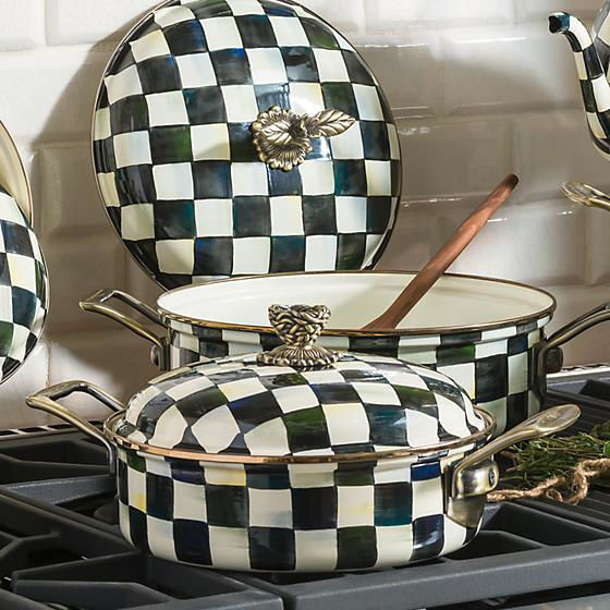 Courtly Check Enamel 3 Qt. Casserole by MacKenzie-Childs