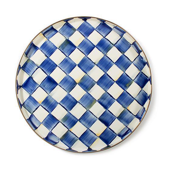 Royal Check Enamel Round Tray by MacKenzie-Childs