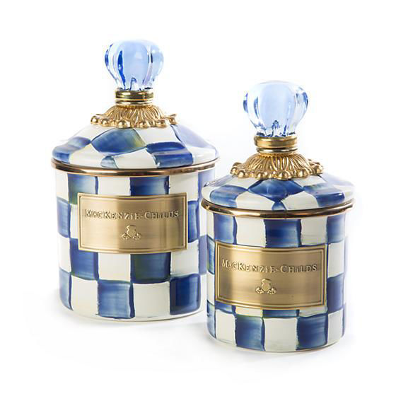 Royal Check Enamel Canister - Demi by MacKenzie-Childs