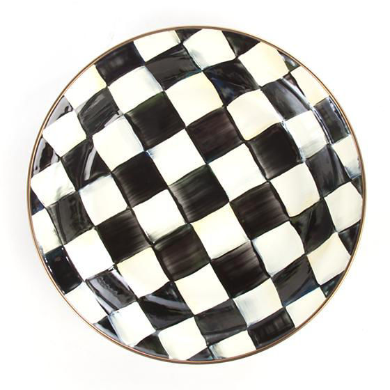 Courtly Check Enamel Pie Plate by MacKenzie-Childs