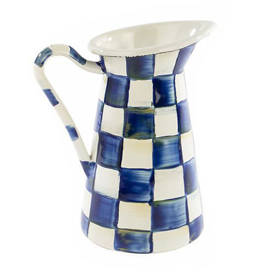 Royal Check Enamel Practical Pitcher - Small by MacKenzie-Childs