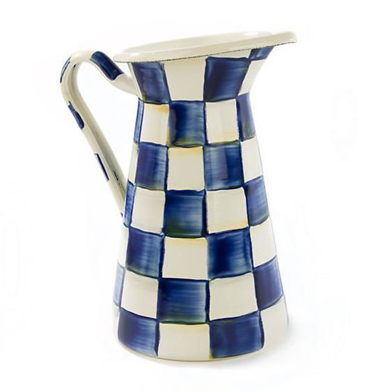 Royal Check Enamel Practical Pitcher - Medium by MacKenzie-Childs