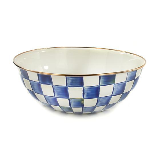 Royal Check Enamel Everyday Bowl - Extra Large by MacKenzie-Childs