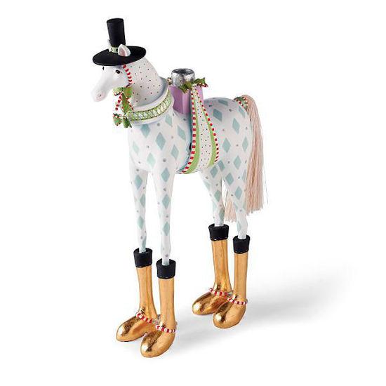 Arthur Horse Candelabra by Patience Brewster