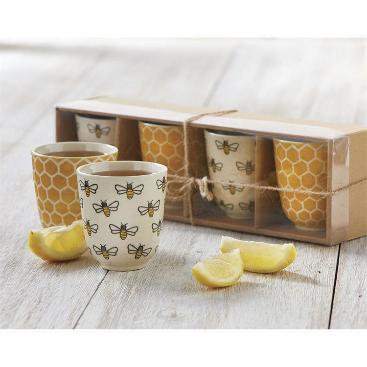 Honeybee Tea Cup Set of 4 by TAG