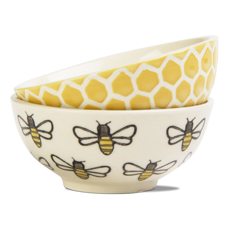 Honeybee Stamp Dip Bowl Set of 2 by TAG