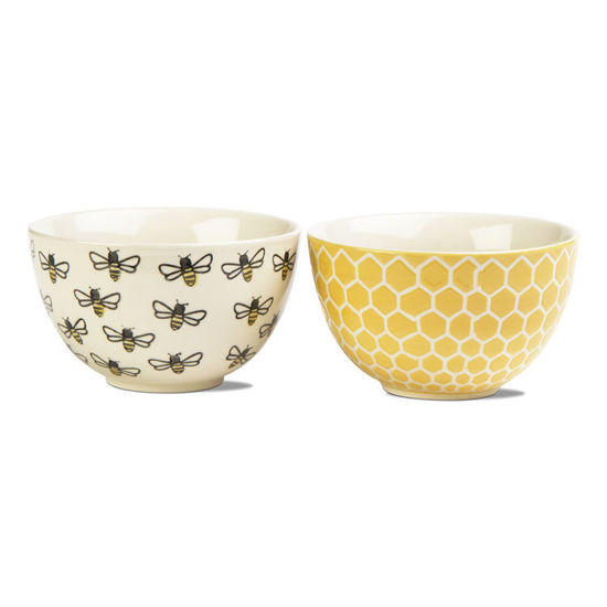 Honeybee Stamp Snack Bowl Set of 2 by TAG