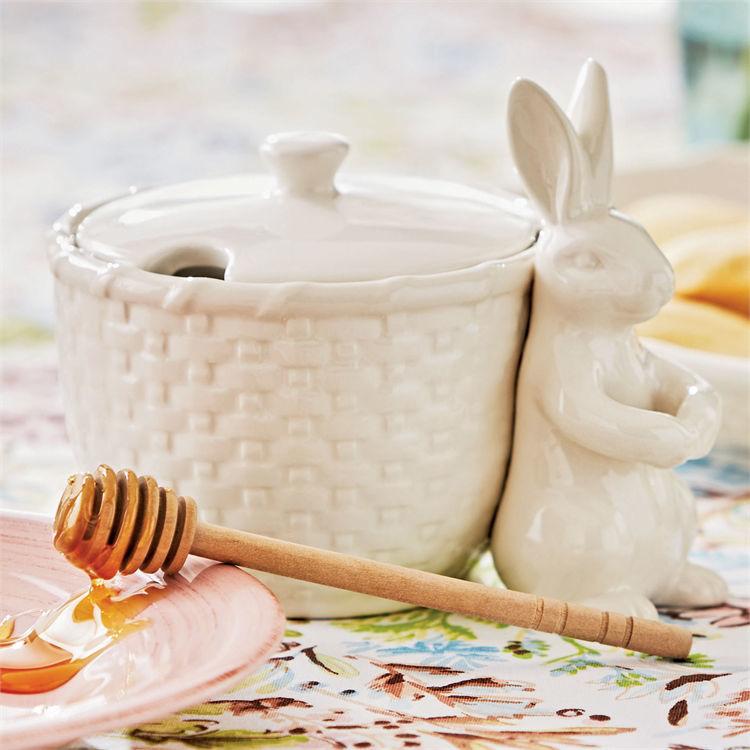 Bunny Honey Pot Dipper Set by Tag