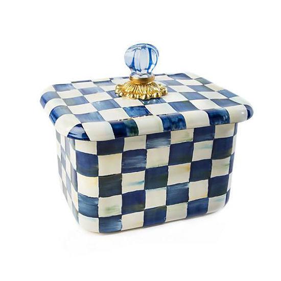 Royal Check Enamel Recipe Box by MacKenzie-Childs