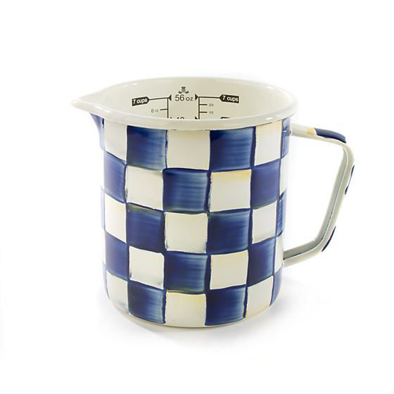 Royal Check Enamel 7-Cup Measuring Cup by MacKenzie-Childs