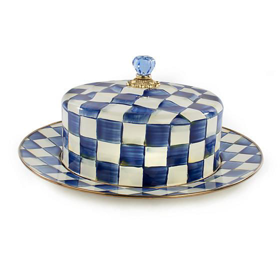 Royal Check Enamel Cake Carrier by MacKenzie-Childs