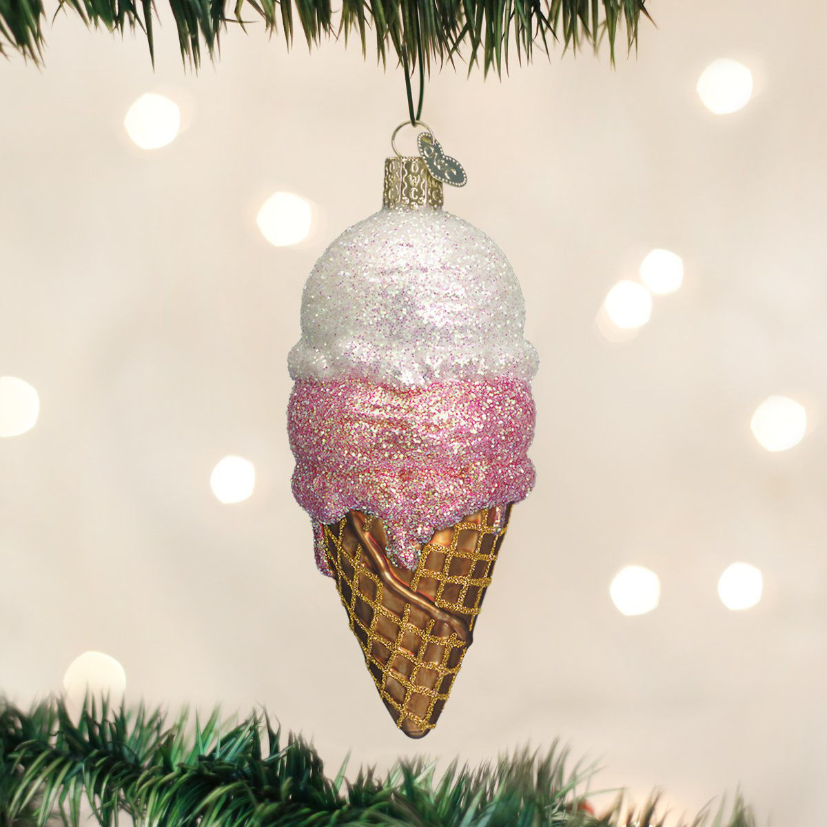Ice Cream Cone Ornament by Old World Christmas