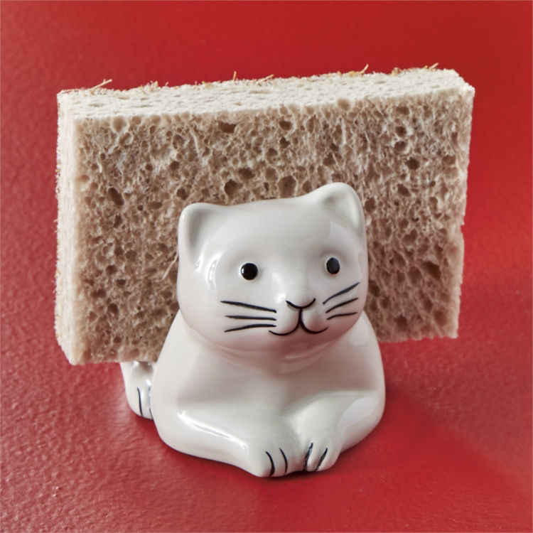 Cat Sponge Holder by Tag