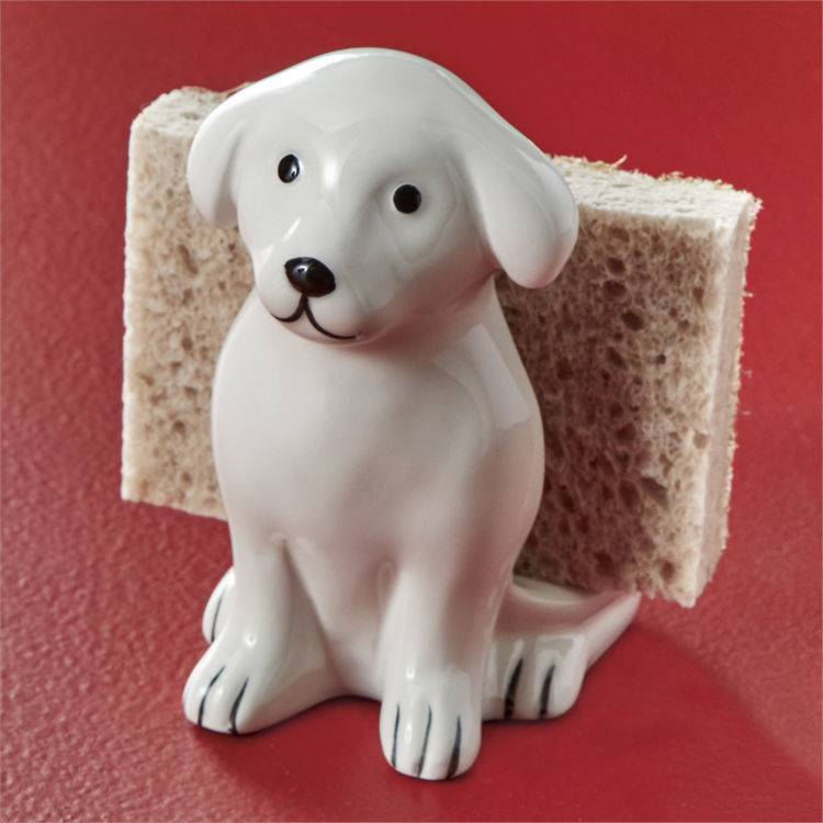Dog Sponge Holder by Tag