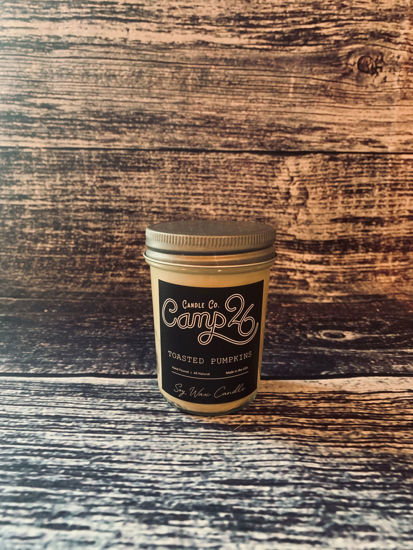 Toasted Pumpkins 8oz Jar by Camp 26 Candle Co