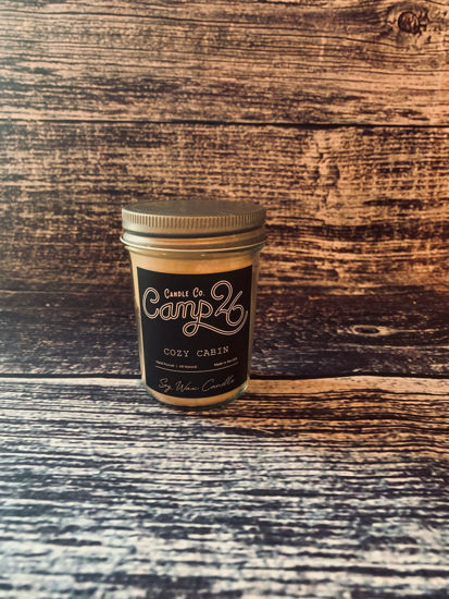 Cozy Cabin 8oz Jar by Camp 26 Candle Co