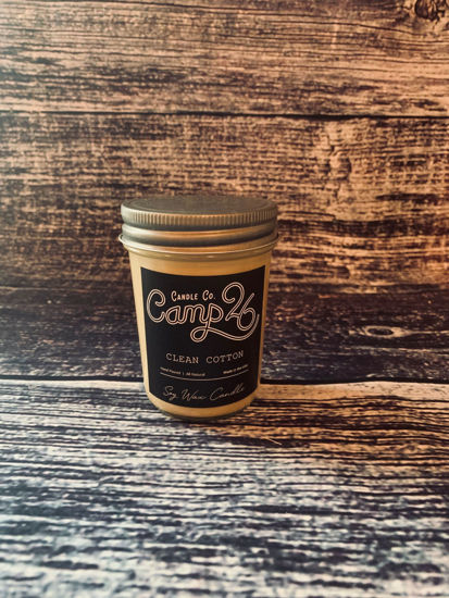 Clean Cotton 8oz Jar by Camp 26 Candle Co