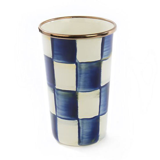 Royal Check Enamel Tumbler - 10 ounce by MacKenzie-Childs