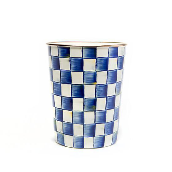 Royal Check Enamel  Waste Bin by MacKenzie-Childs