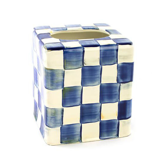 Royal Check Enamel  Boutique Tissue Box Cover by MacKenzie-Childs