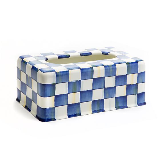 Royal Check Enamel Standard Tissue Box Cover by MacKenzie-Childs