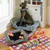 Royal Check Enamel Pet Dish - Medium by MacKenzie-Childs