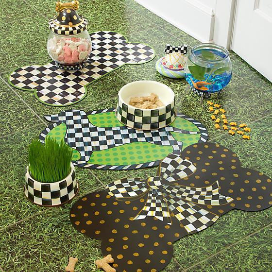 Courtly Check Enamel Pet Dish - Medium by MacKenzie-Childs