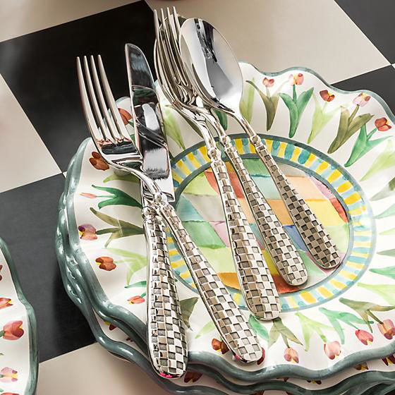 Check Flatware - 5-Piece Place Setting by MacKenzie-Childs