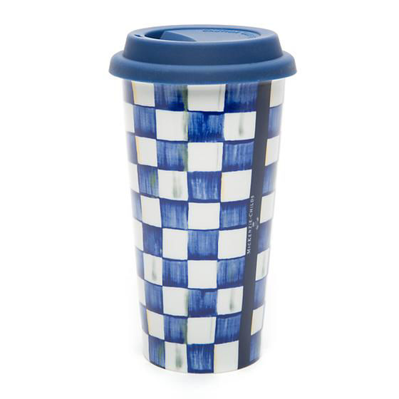 Royal Check Travel Cup by MacKenzie-Childs