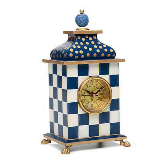 Royal Check Desk Clock by MacKenzie-Childs