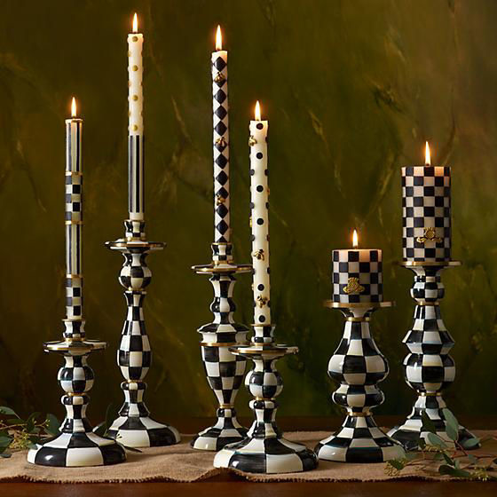 Courtly Check Enamel Candlestick - Medium by MacKenzie-Childs